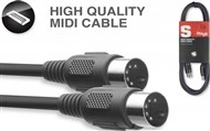 Stagg SMD Moulded MIDI Cable (1m/3ft) - SMD1 E