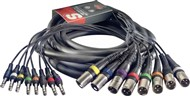 Stagg SML 8-Way Stereo Jack to Male XLR Multicore (5m/16ft) - SML5/8XM8PS E