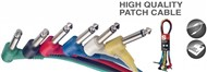 Stagg SPC Mono Jack Angled Patch Cable Pack (30cm/1ft, 6 Pack) - SPC030L E