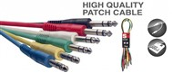 Stagg SPC Stereo Jack Balanced Patch Cable Pack (60cm/2ft, 6 Pack) - SPC060S E