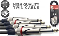 Stagg STC Dual Mono Jack Cable (3m/10ft, Black) - STC3P