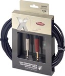 Stagg XGC Instrument Cable with Switch (6m/20ft, Neutrik) - XGC6SW