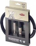 Stagg XMC Female XLR to Mono Jack Cable (6m/20ft, Black) - XMC6XP