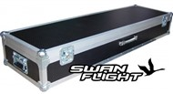 Swan Flight Roland FP-7F Case with Wheels (Hexagrip, Black)