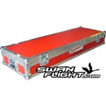 Swan Flight Nord Stage/Piano 88 Flight Case in Red with Castors