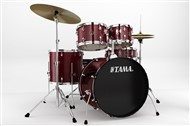 Tama RM52KH5WC Rhythm Mate 5 Piece Complete Kit, Red Stream