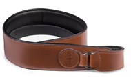 Badge Logo Leather Strap, Tan