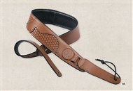 Taylor Ware 63004 Basket Weave Guitar Strap, Dark Brown