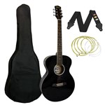 Tiger ACG2 Acoustic Guitar Black Front