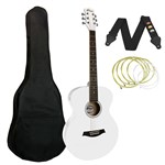 Tiger ACG2 Acoustic Guitar White Front