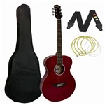 Tiger ACG2 Acoustic Guitar Red Front