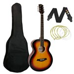 Tiger ACG2 Acoustic Guitar Sunburst Front
