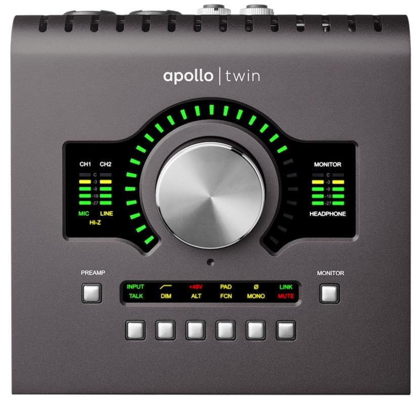 Universal Audio Apollo Twin MK II Thunderbolt Audio Interface, QUAD