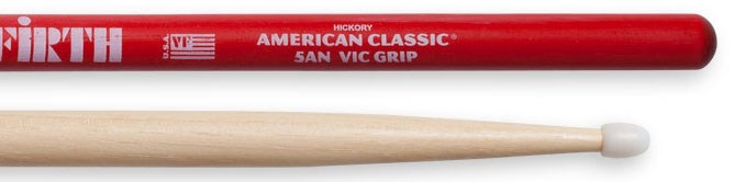 5A Nylon Tip Drumsticks with Vic Grip