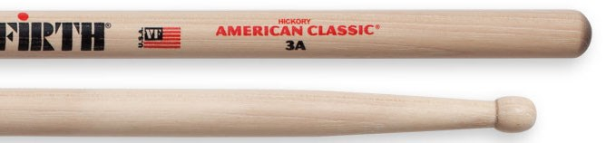 American Classic 3A Wood Tip Drumsticks
