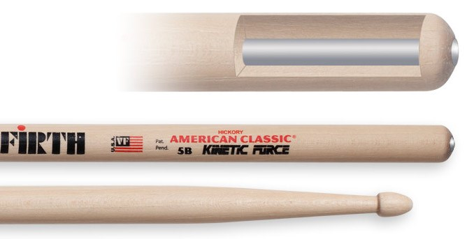 5B Kinetic Force Wood Tip Drumsticks