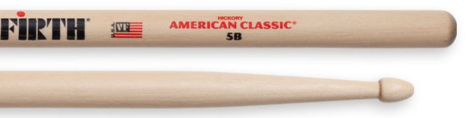 Vic Firth 5B Wood Tip Drumsticks