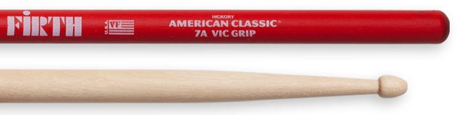 7A Wood Tip Drumsticks with Vic Grip