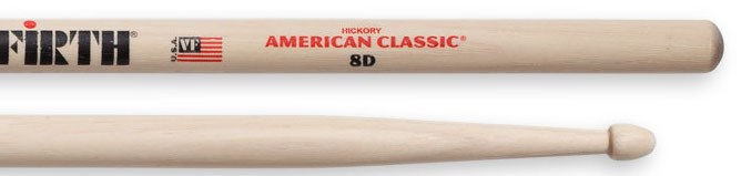 Vic Firth 8D Wood Tip Drumsticks