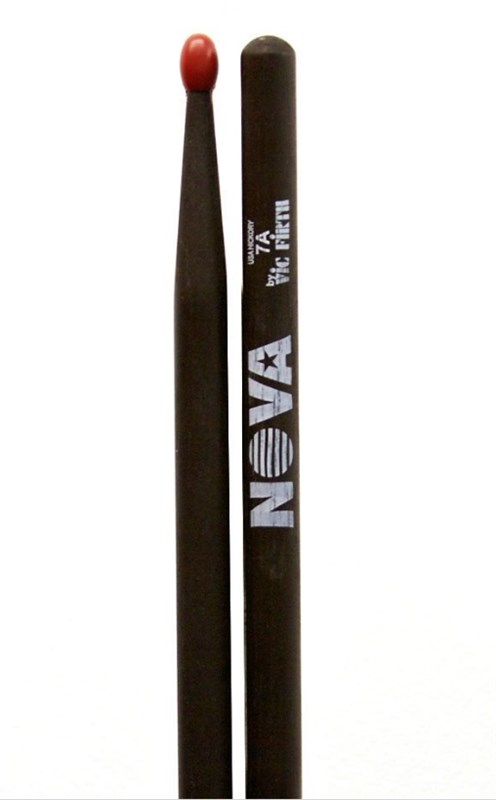 Vic Firth Nova 7A Nylon Tip Drumsticks (Black)