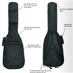 RockBag RB 20514 B Student Gig Bag, 3/4 Size Classical, Black
