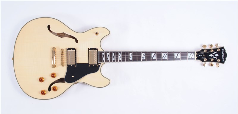 WashburnHB35ThinlineHollowbodyNatural-FrontFull