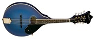 Washburn M1SDL Bluegrass Mandolin, Trans Blue