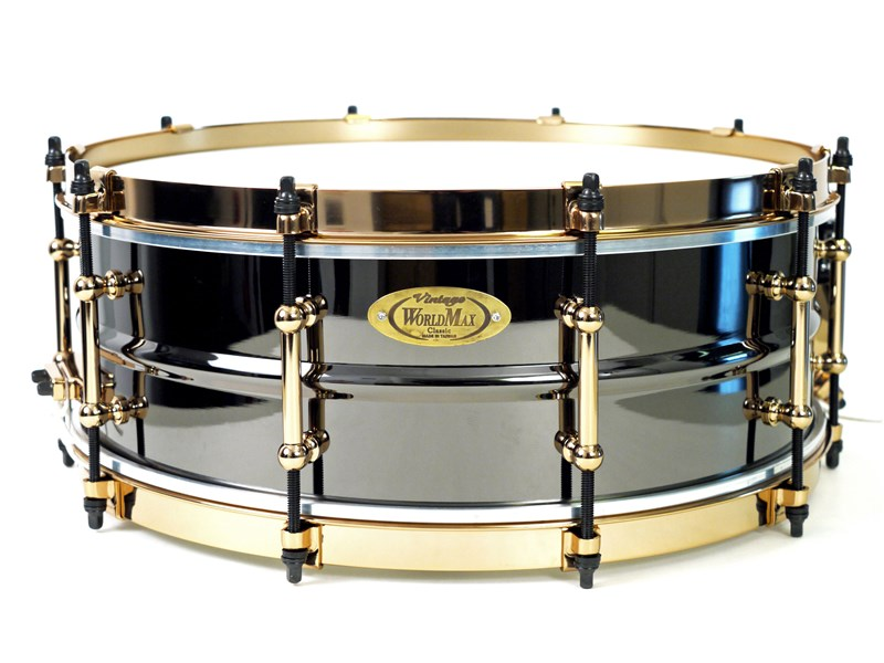 WorldMax Black Brass Aztec Gold Snare