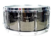 WorldMax Black Brass Laser Engraved Snare