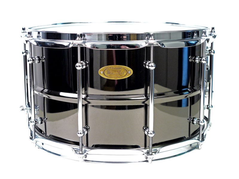 WorldMax Black Brass Snare, 14x8in