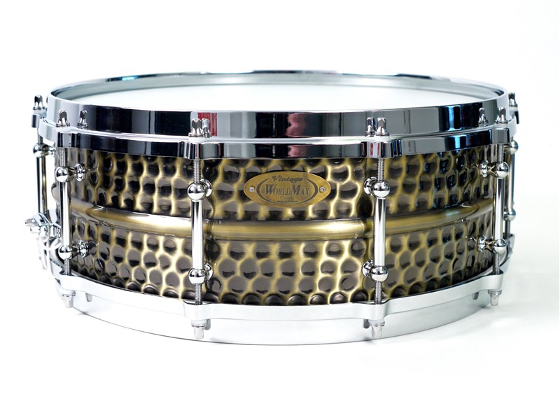 WorldMax Brass Nickel Hammered Snare,14x5in,main