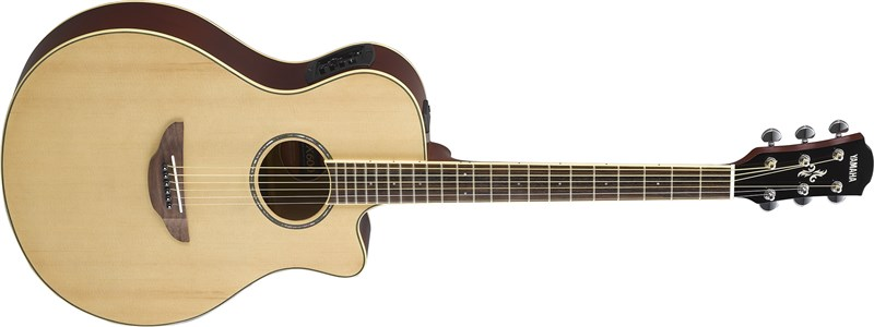Yamaha APX600 Electro Acoustic Natural Front Angle