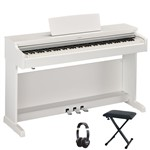 Yamaha Arius YDP-163 Digital Piano (White) Bundle With Included Accessories