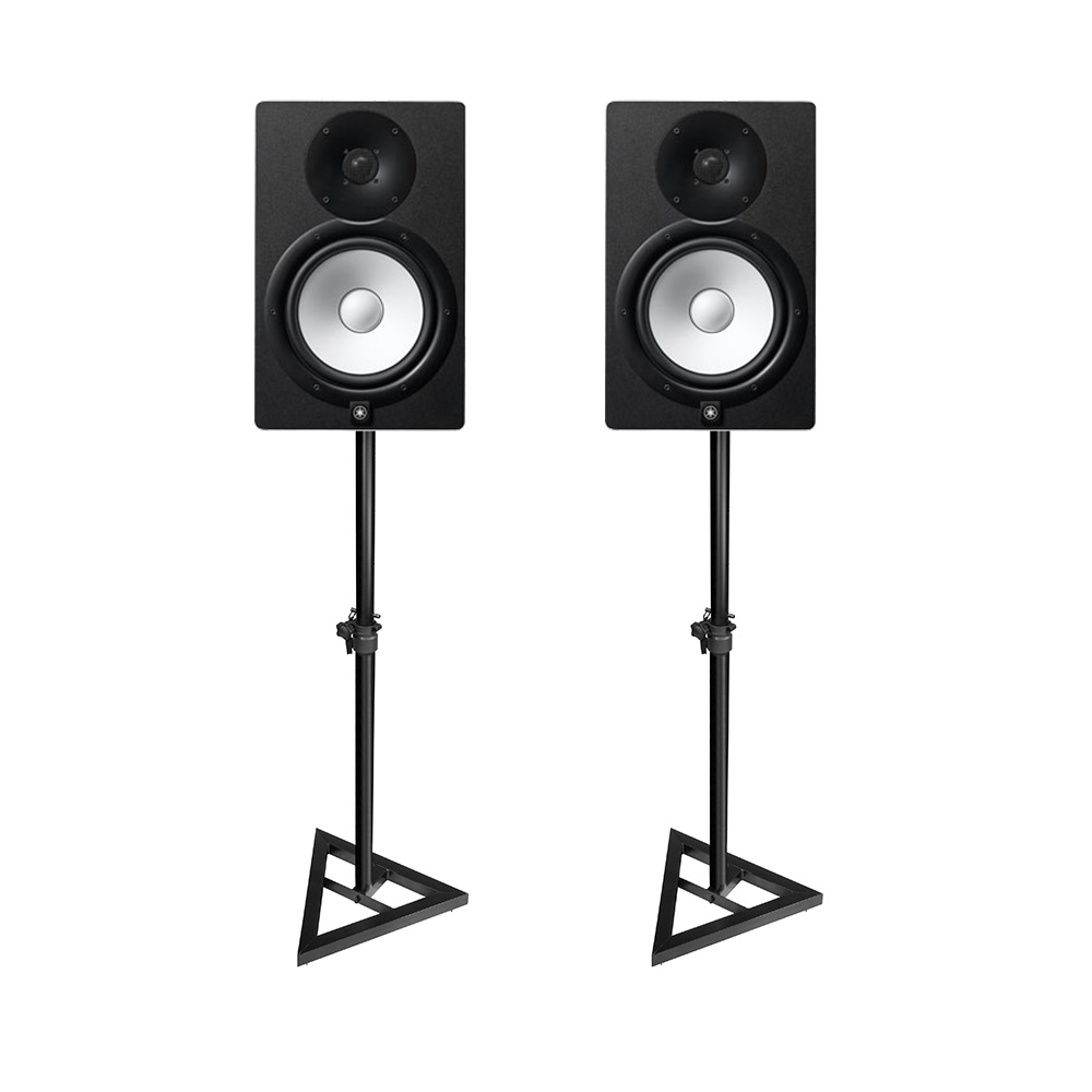 yamaha hs8 studio monitors pair including monitor stands