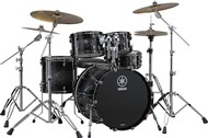 Yamaha Live Custom Fusion 4 Piece Shell Pack (Black Shadow Sunburst)