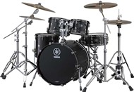 Yamaha Live Custom Fusion 4 Piece Shell Pack (Black Wood)