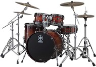 Yamaha Live Custom Rock Fusion 4 Piece Shell Pack (Amber Shadow Sunburst)