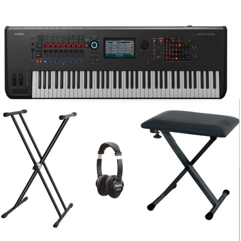 yamaha montage 7 music synthesiser bundle with included. Black Bedroom Furniture Sets. Home Design Ideas