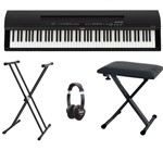 Yamaha P255 (Black) With Included Accessories