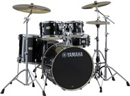Yamaha SBP0F5 Stage Custom Birch 5 Piece Shell Pack w/600 Hardware (Raven Black)
